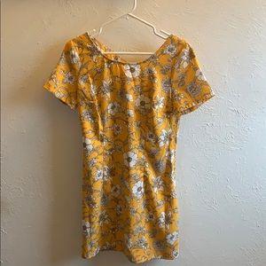Hollister Yellow Floral Dress